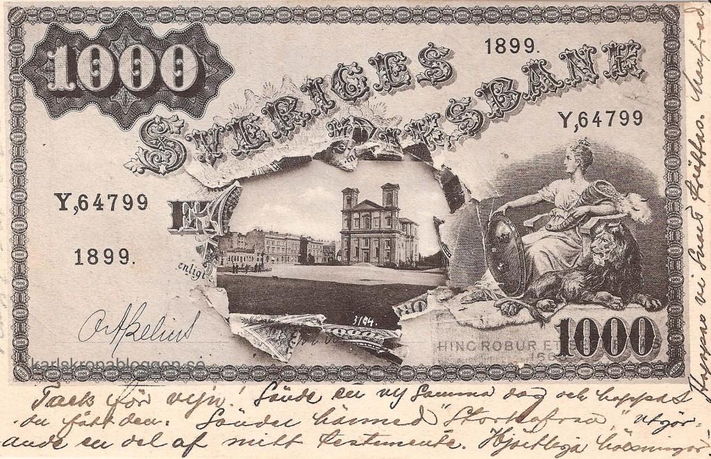 Sedelvykort från 1902