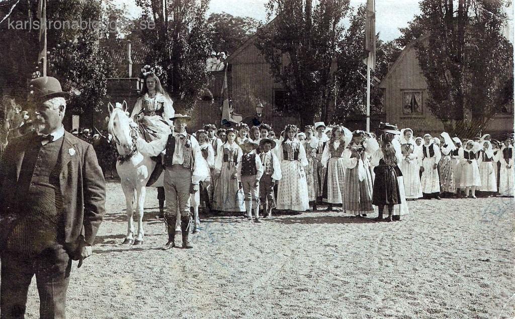 Gustaf Quiding vid Hembygdsfesten 1908
