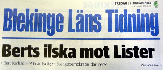 Bert Karlsson: Alla är tydligen Sverigedemokrater där