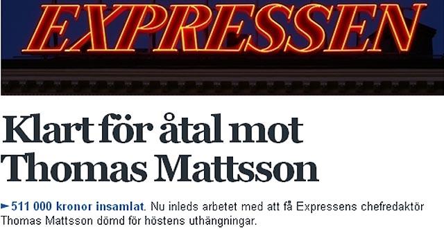 Enskilt åtal mot Expressen
