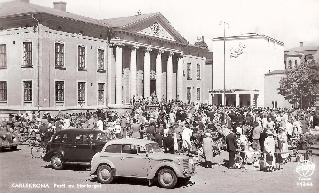Parti av Stortorget 1957