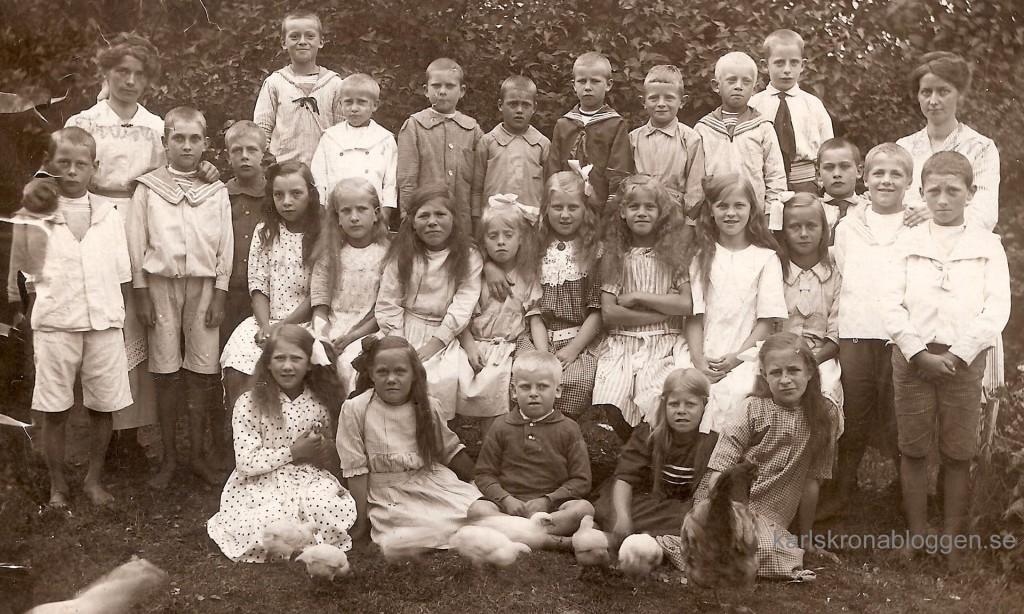 Sillhövda Skollovskoloni den 1 augusti 1919