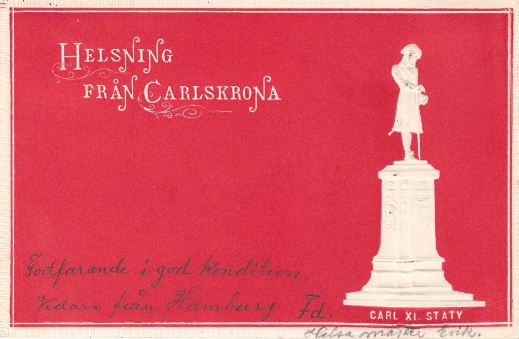 """""""Helsning från Carlskrona"""" 1900"""