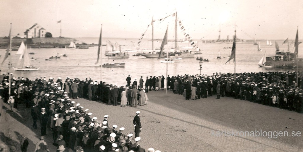 Fidra återkommer till Karlskrona den 11 september 1922