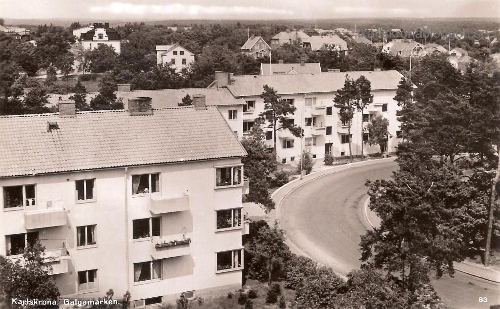 Galgamarken och Bergåsa cirka 1950