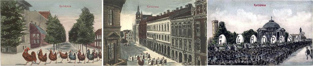 Påskvykort från Karlskrona