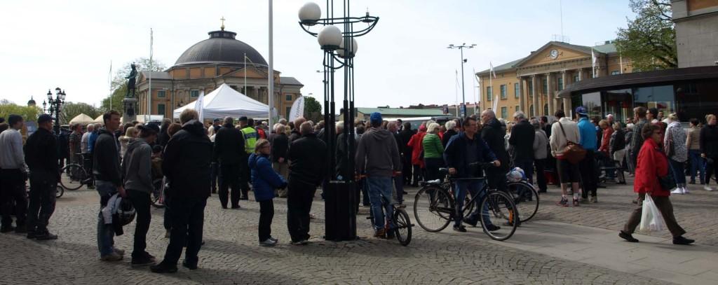 Jimmie Åkesson talar i Karlskrona den 2 maj 2014