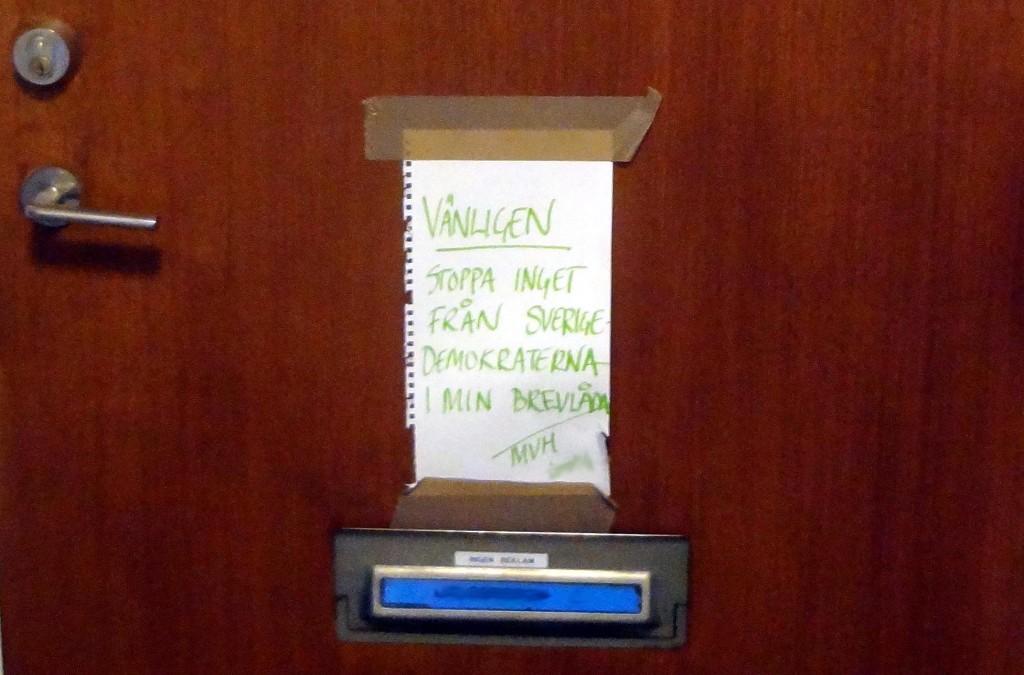 Klart roligaste skylten var denna skriven av en tjej på Björkholmen