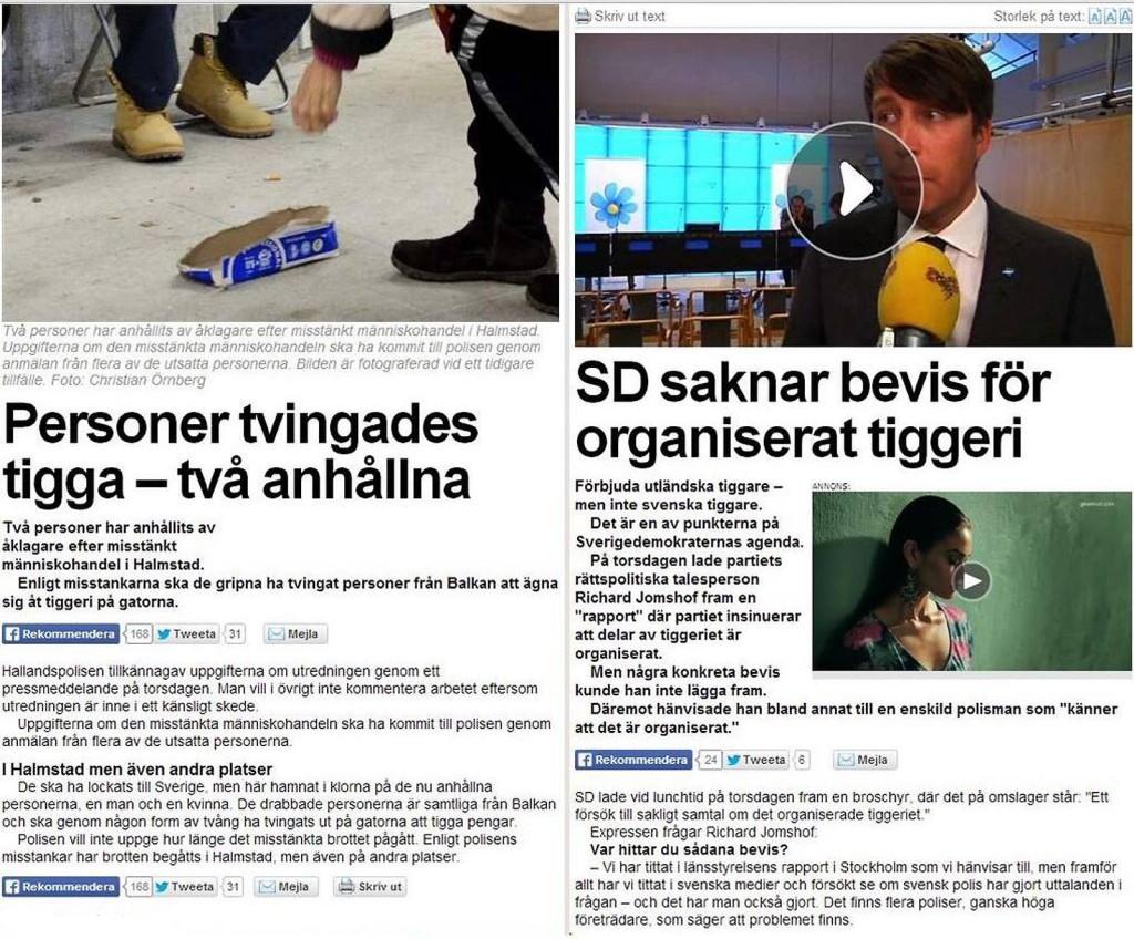 Samma dag i Expressen...