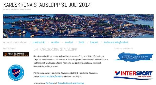 Karlskrona Stadslopp den 31 juli 2014