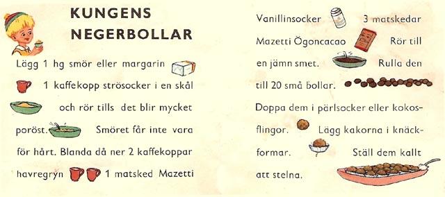 Ett gammalt recept på Kungens Negerbollar