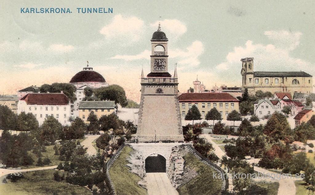 Tunneln med Klockstapeln 1906