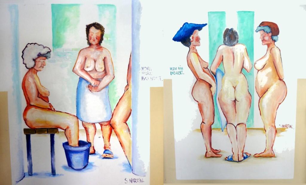 Trevliga väggmålningar