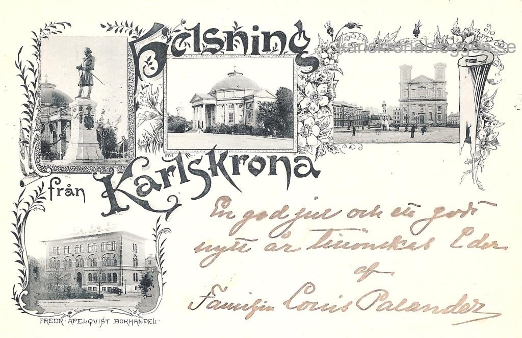 Hälsning från Karlskrona till Stockholm 1899