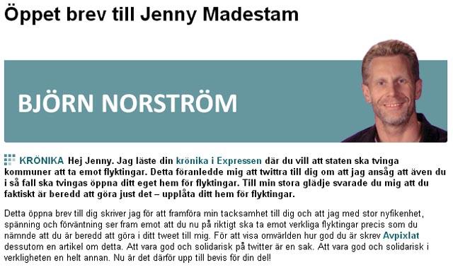 Björn Norström vs. Jenny Madestam