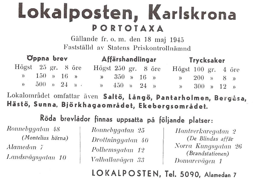 Lokalposten 1945-1947