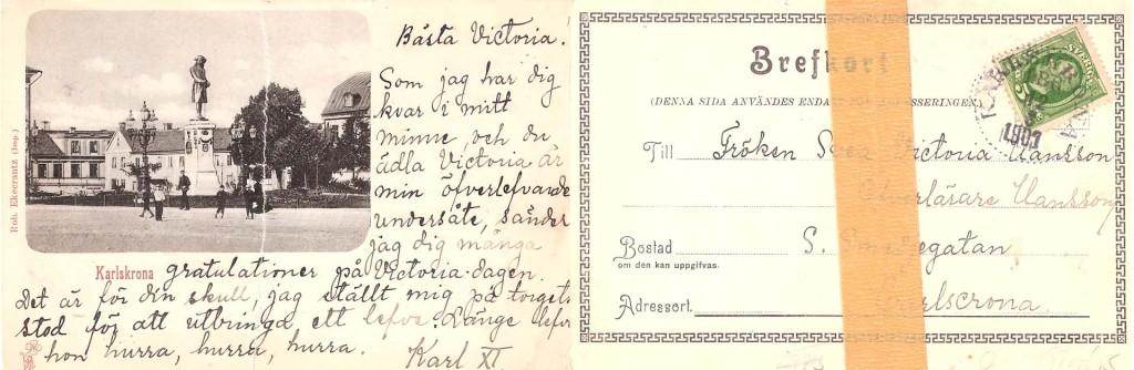 Udda gammalt vykort