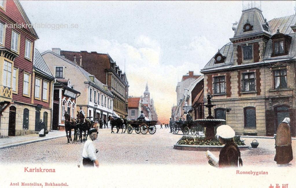Ronnebygatan cirka 1905