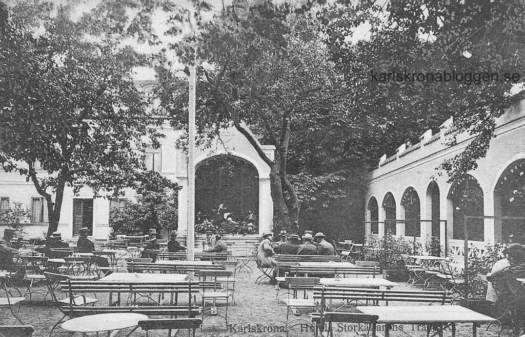 Hotell Storkällarens trädgård cirka 1920