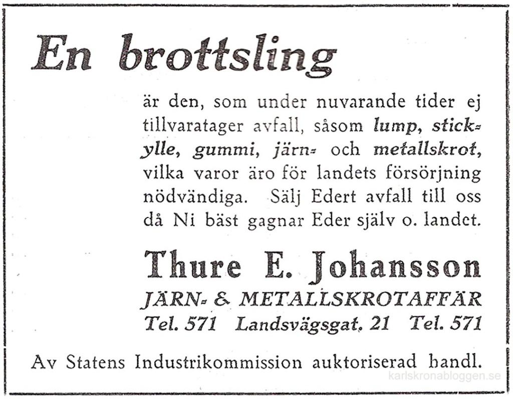 Rolig annons från 1943