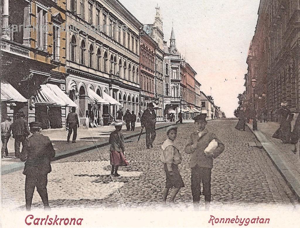 Ronnebygatan kring 1900