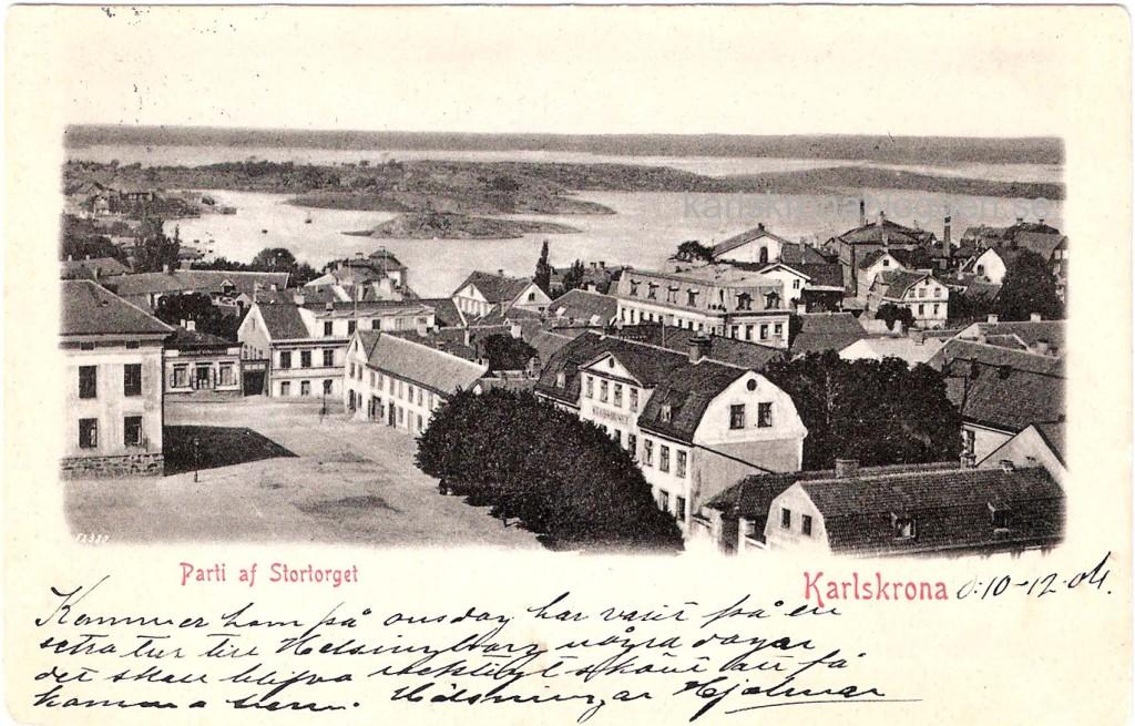 Utsikt över Stortorget 1904