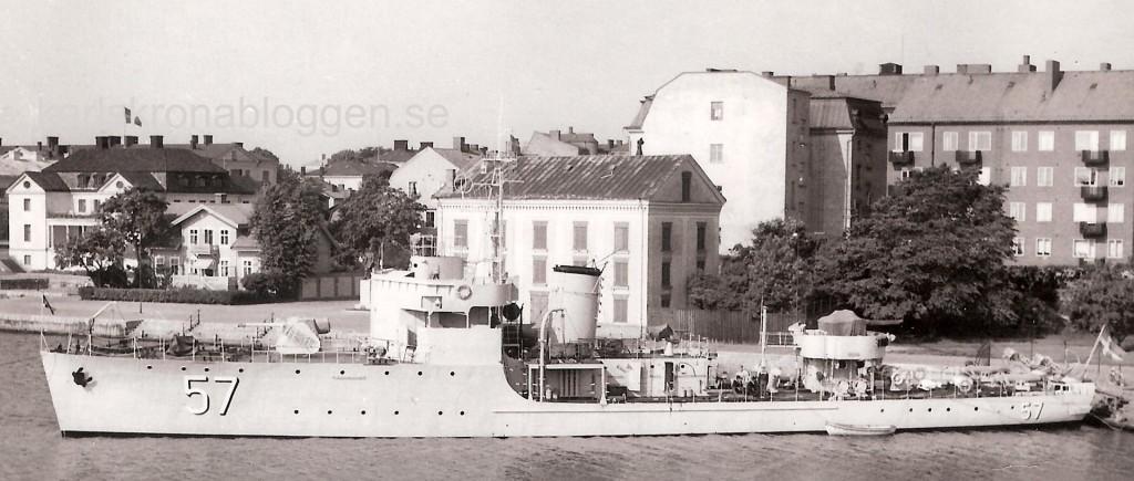 HMS Sandön vid Kungsbron