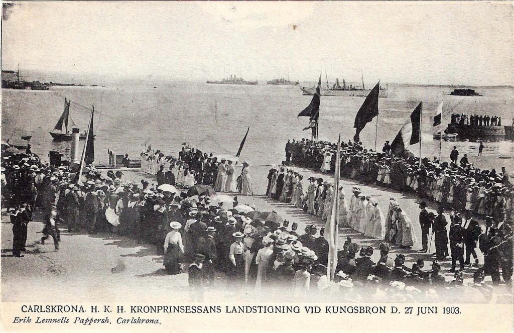 Celebert besök 1903
