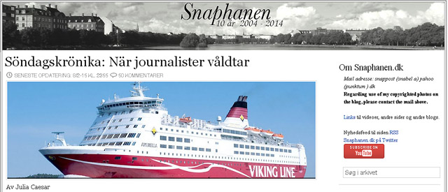 """Julia Caesars söndagskrönika i Snaphanen: """"När journalister våldtar"""""""