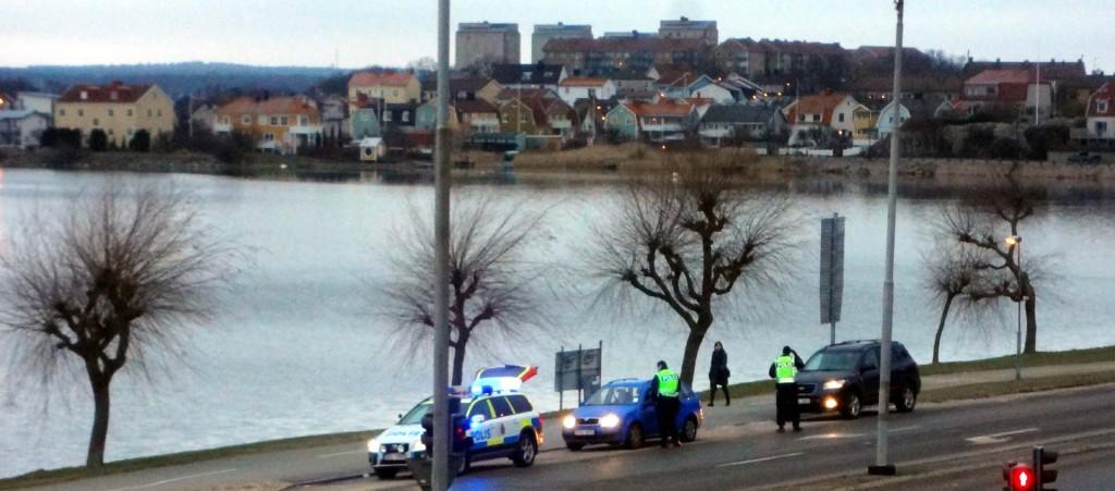 Tidig poliskontroll vid Borgmästarekajen