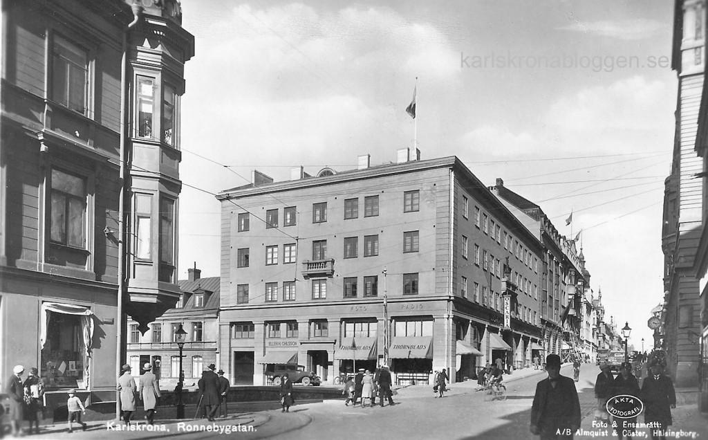 Ronnebygatan cirka 1940