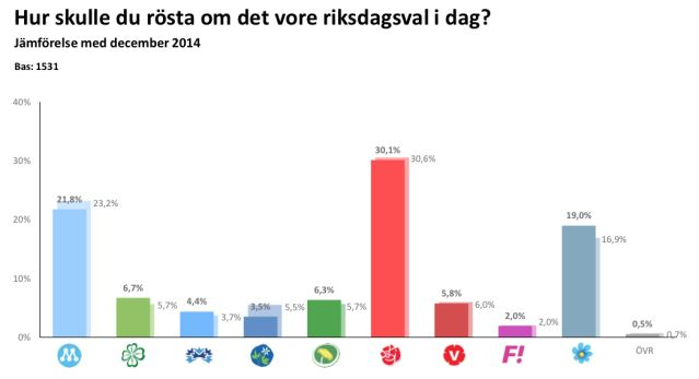 Sverigedemokraterna 19 %
