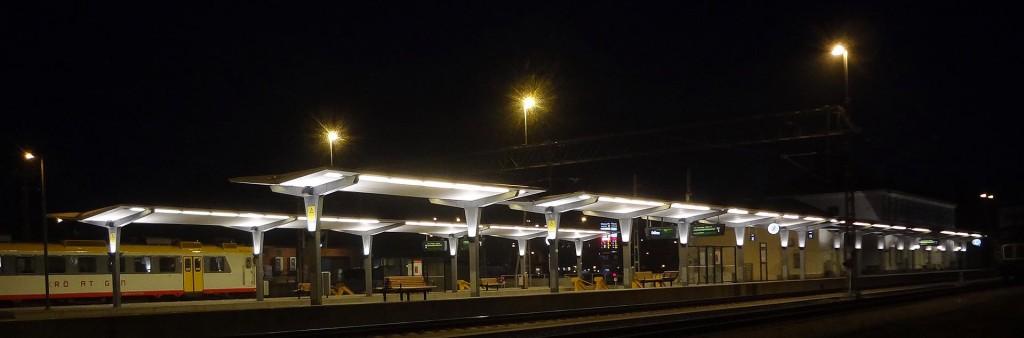 Kvällsbild från centralen