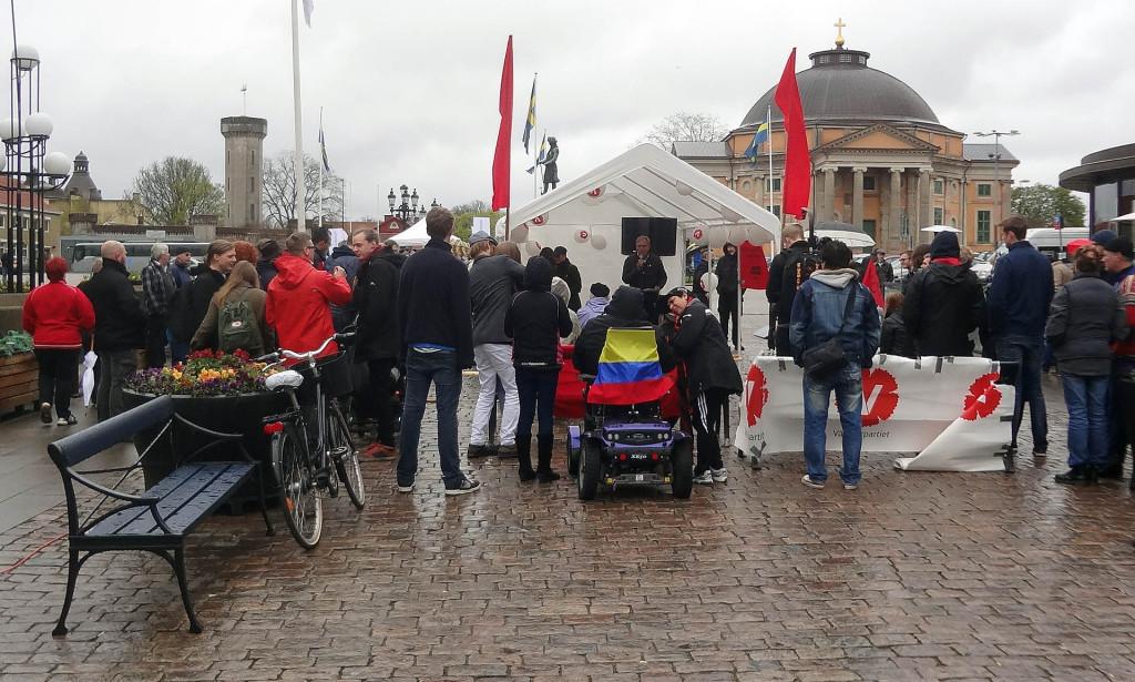 Vänsterpartiet Karlskrona den 1 maj 2015
