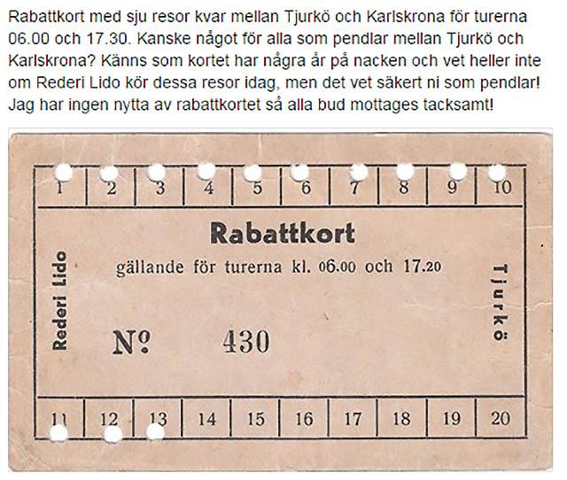 Sju resor kvar med resor från Tjurkö för alla som pendlar till Karlskrona