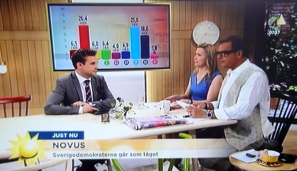 """TV4: """"SD går som tåget"""""""