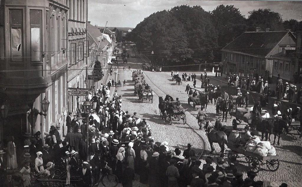 Mobilieseringe 1914 - Landbrogatan mot norr