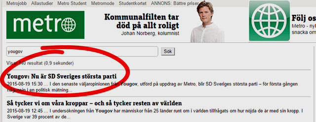 Sverigedemokraterna är nu största parti i Sverige