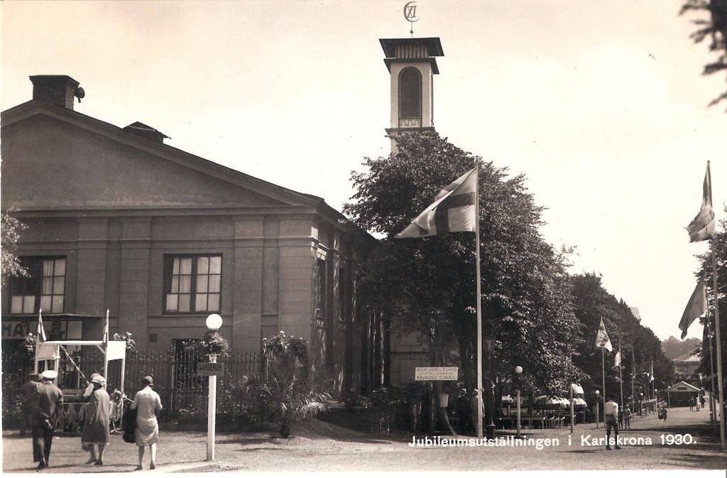 Entrén till Karlskronautställningen 1930