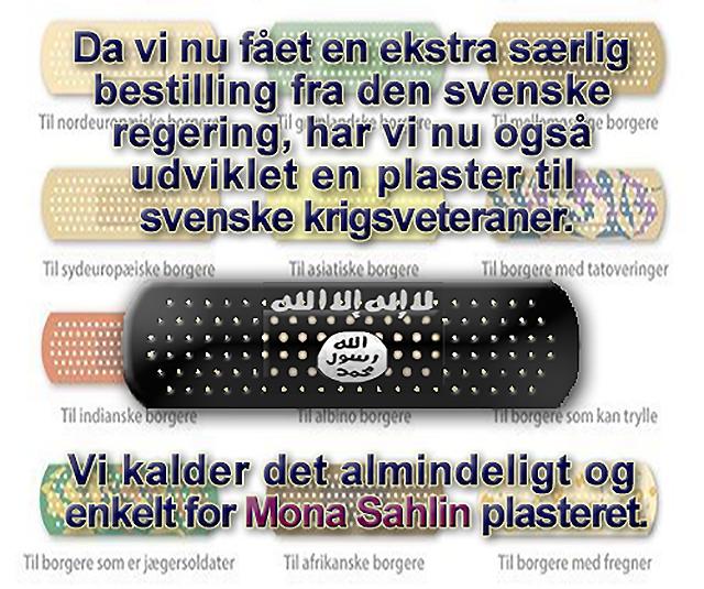 """Mona Sahlin-plåster för """"svenska"""" IS-terrorister"""