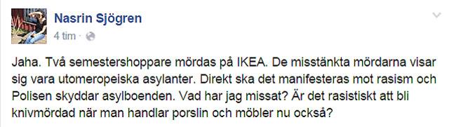 Nasrin Sjögren måste också ha missat något, eller vad är det som händer?