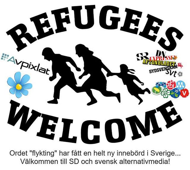 Flyktingarna är välkomna!
