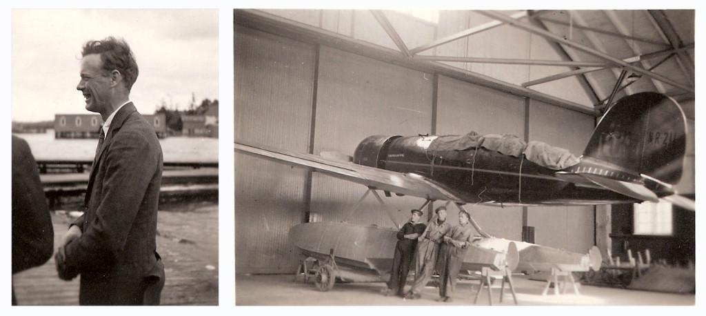 Charles Lindbergh på besök i Karlskrona 1933