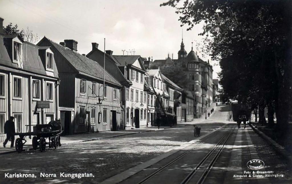 Norra Kungsgatan på 1930-tal