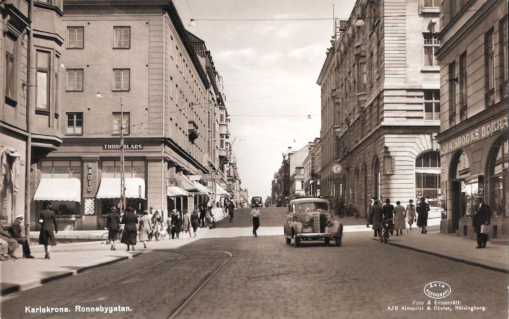 Ronnebygatan före 1945