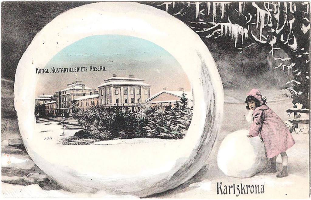 Vallgatan i en snöboll