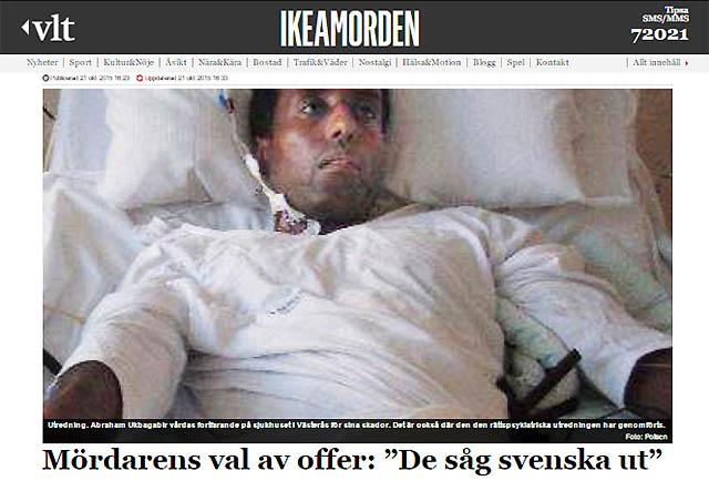 Västmanslands läns tidning (VLT) om morden på IKEA i Västerås