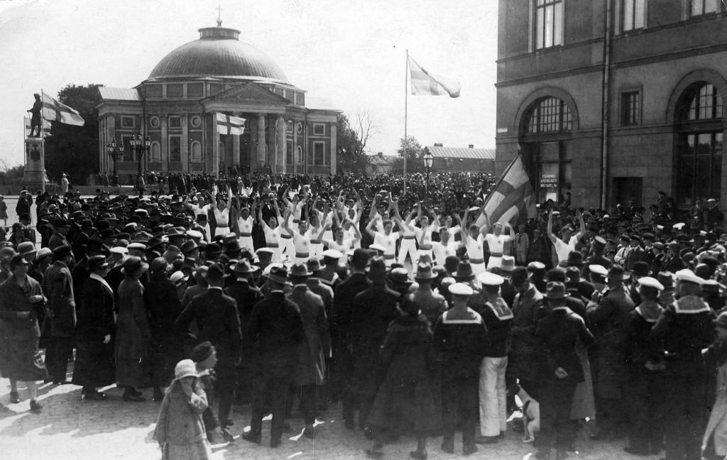 Gymnastikuppvisning 1925
