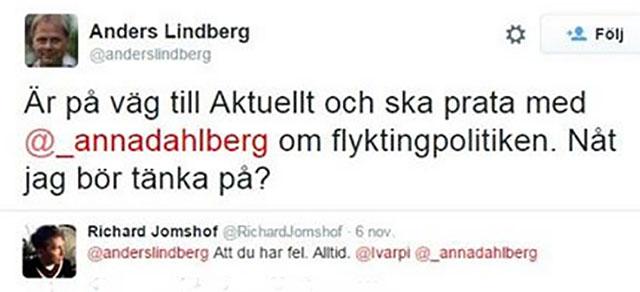 Lindberg får råd av Jomshof