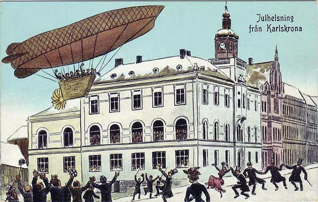 Zeppelinare över Riksbanken